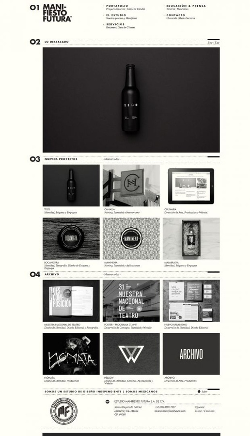 Web Design / Independent Design Studio Manifiesto Futura #website
