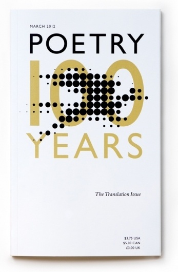 New Work: Poetry Magazine Anniversary Cover | New at Pentagram | Pentagram #cover #book #typography