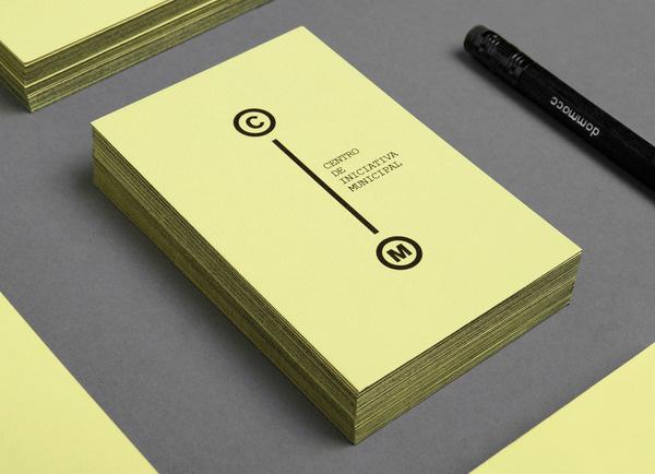 CIM #font #cim #business #card #yellow #courier #akzidenz #black #fiore #mariano #murcia #sublimacomunicacion