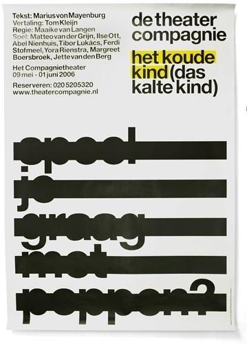 DTC / Het Koude Kind - Experimental Jetset #design #experimental #poster #jetset #typography