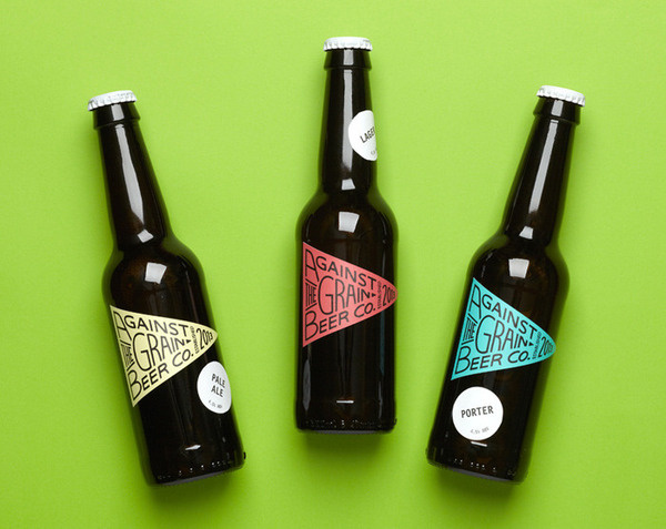 Above: Range of beer labels for Against The Grain Beer Co. #packaging #beer