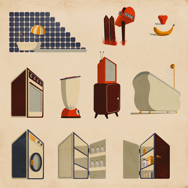 Stuff for Infographics and Maps on Behance #infographics #illustration #vintage