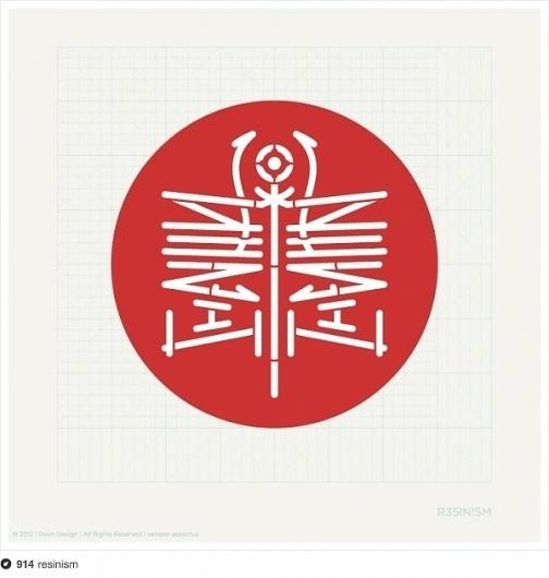 Totem logotype #circle #totem #logotype #red #project #resinism #image #mirror #studio #logo
