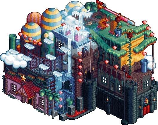 Platformer House - Pixel Art - Creattica #art #pixel