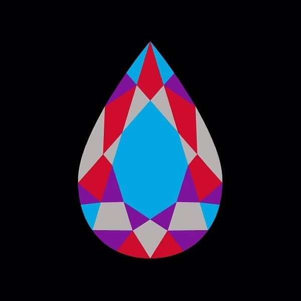 Teardrop. Tshirt design by Fourth is King. #geometry #graphics #diamond #design #graphic #color #logo