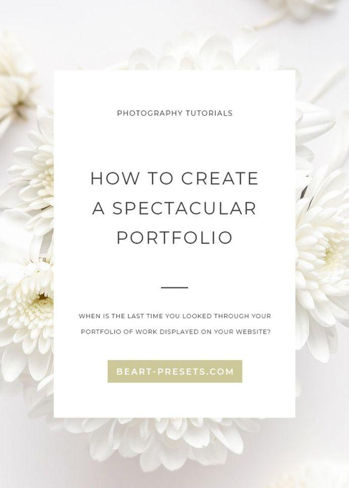 HOW TO CREATE A SPECTACULAR PORTFOLIO