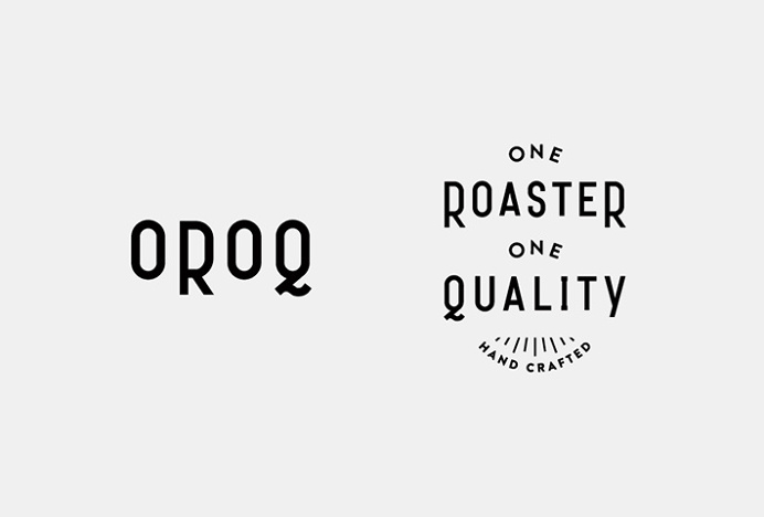 One Roaster One Quality by Plat #logo #logotype #mark #symbol #typography
