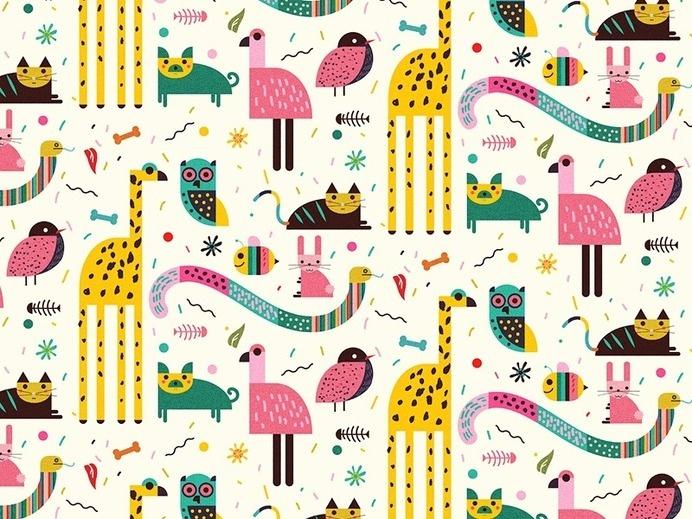 http://www.anatypestype.com #animals #animal #child #pattern #patterns