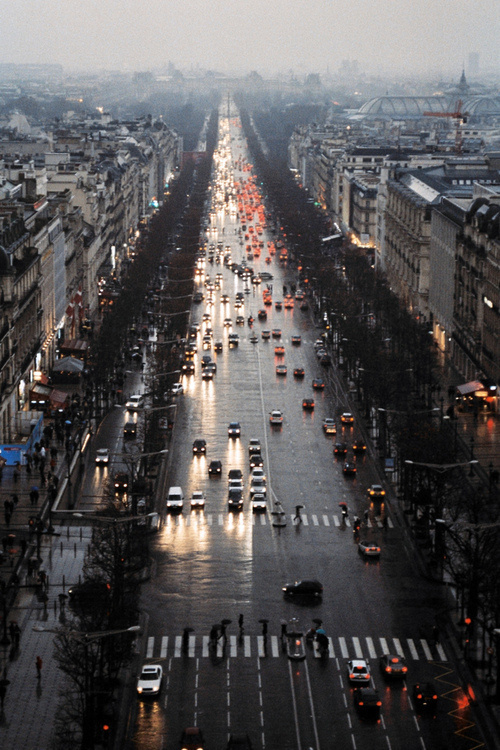 Paris #paris #rain #street