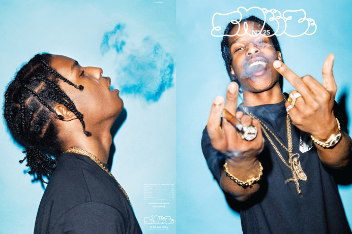 """A$AP Rocky Covers 'SNEEZE' No. 25 – The """"Excuse Me"""" Issue Shot by Kenneth Cappello, Harlem's finest graces the cover of SNEEZE's 25th"""