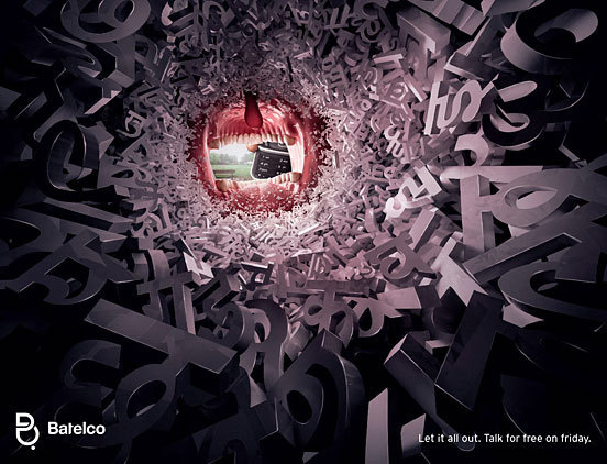 30 Creative Advertisements with Amazing Typographic Design | The Design Inspiration #talk #advertisement #design #photography #type #swords #clever #mouth