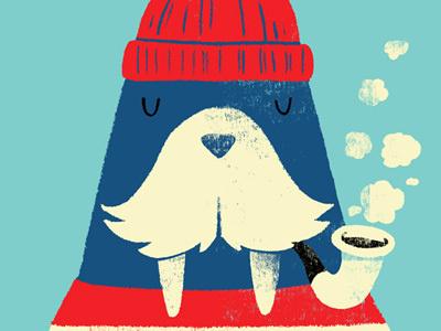Monster Riot - Walrus #print #illustration #cute #walrus