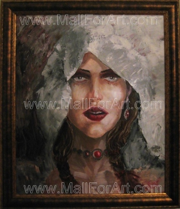 A different interpretation of realistic art - Angel Ivanov's paintings #woman #gothic #realism #portrait #painting #paintings #art #oil