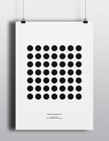 Shapes Evolution 1 Print #screen #print #poster