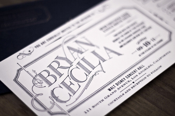 intricate_typography #invitation #design #vintage #type #wedding