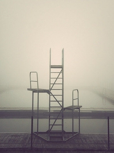 Deserted City on the Behance Network #stairs #pool #photo