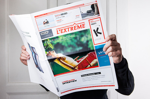 Press journal - Kenzo Homme Sport Extreme #design #graphic #newspaper #journal #editorial