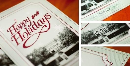 Print : Adam Casey Design #card #print #design #christmas #promotion #typography
