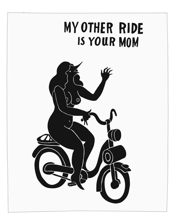 Parra My Other Ride Print | Arkitip, Inc. #bicycle #drawing #poster #parra