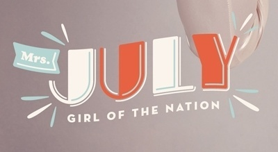 Calendar Girl on the Behance Network #calendar #design #army #typography