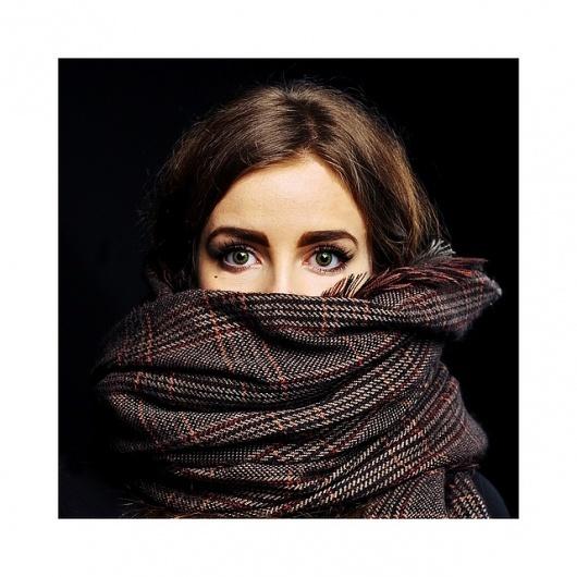 Art Sponge I Inspirational Visual Art #julian #girl #berman #scarf #intense #photography #portrait