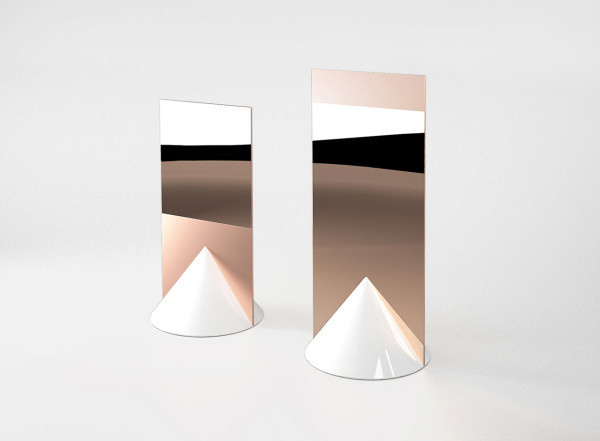 Signs by Jérémy Murier #mirror #cone #ceramic #copper
