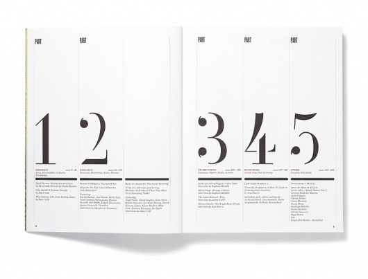 Elephant Magazine: Issue 2 « Studio8 Design #stencil #contents #numbers #studio8 #magazine