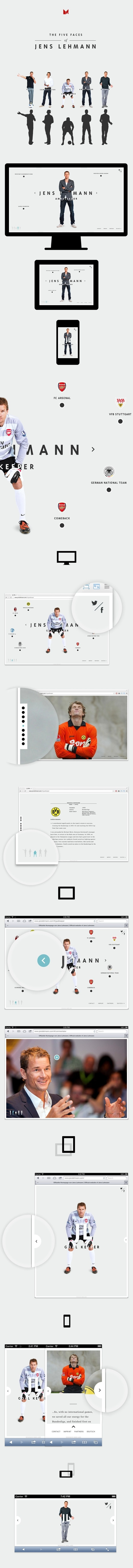 Jens Lehmann Personal Website on Behance #website #football #sebsite #web