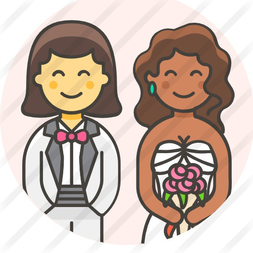 See more icon inspiration related to brides, love and romance, lesbian, homosexual, wedding, love and people on Flaticon.