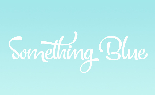 Something Blue logo #logotype #lettering #type #logo #something #brand #blue #wedding #typography