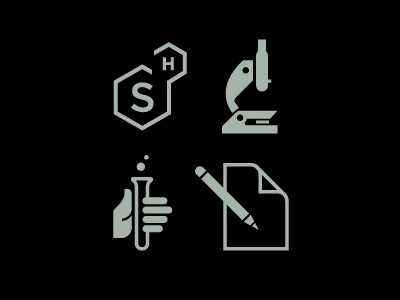 Dribbble - Brand icons by Matt Lehman #white #icon #design #icons #black #simple #logo #science