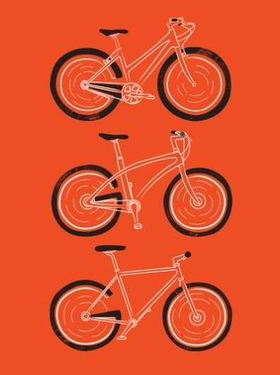 Go Go Go Art Print by Marcoooooo | Society6 #illustration #bike #poster