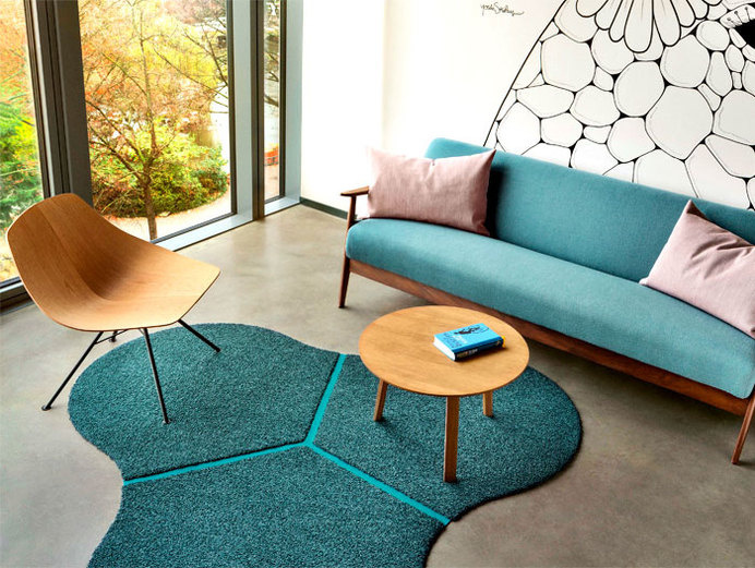 Patchwork Rug Collection by Werner Aisslinger rounded curved triangle rug #rugs #carpets #flooring