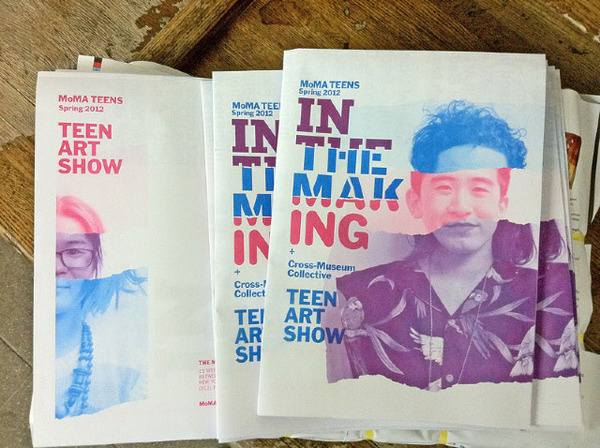 MoMA Teens / In the Making Francesca Campanella #newsprint #museum #print #faces #duotone #type #booklet #brochure #typography