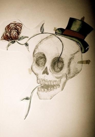 VINCENT #rose #skull #hat