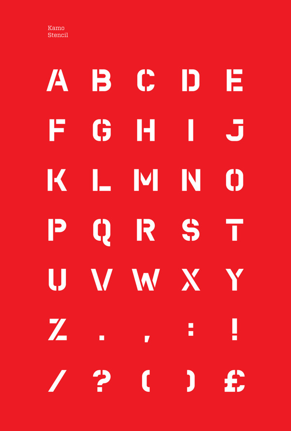 Kamo – Typeface on Behance #font #red #stencil #typeface #kamo #typography