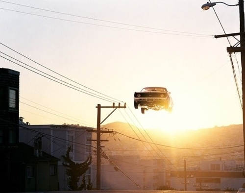 Avoiding elevators and taking the steps. #flare #photo #photography #car #light #high