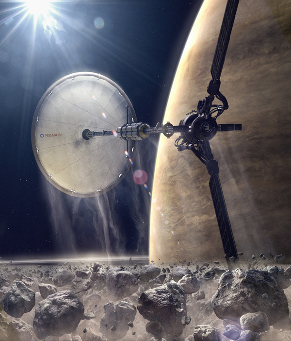 Daren Horley Concept Art #futuristic #fi #sci #space #concept #asteroids #art