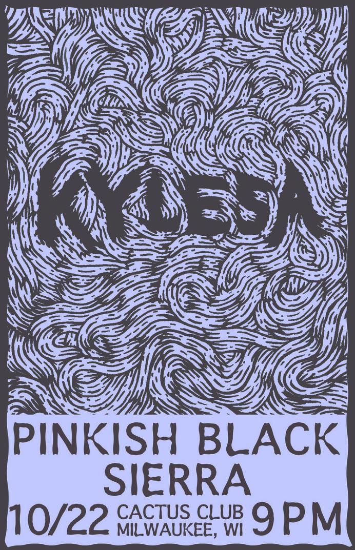 Keyless flyer - Matt Terrell #metal #flyer #milwaukee #kylesa #poster #show