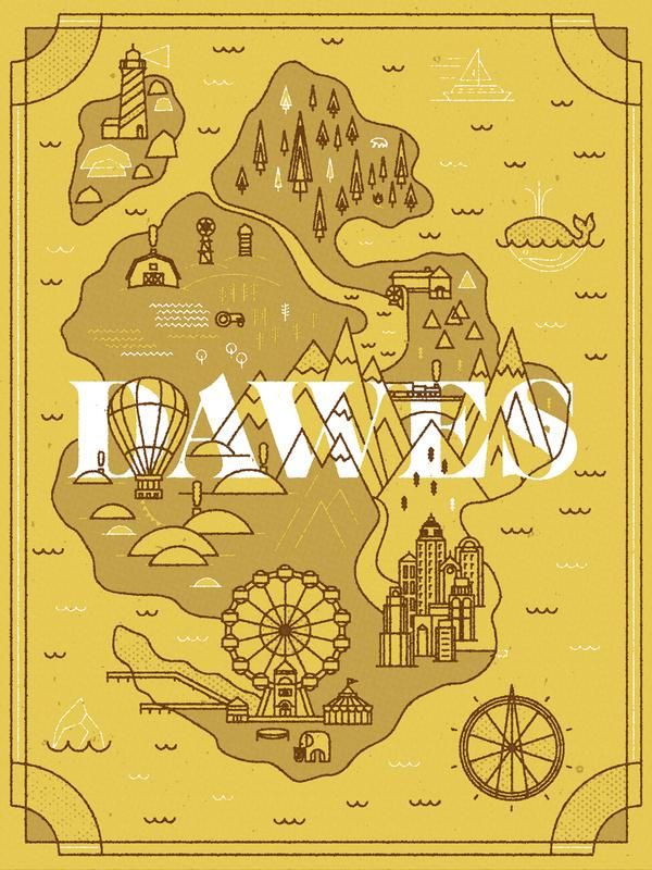 Dawes Land - Pavlov Visuals #illustration #design