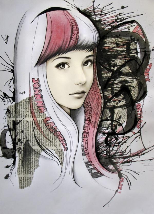 Mixed Media Illustrations by Joanna Ladowska #joanna #ladowska #illustrations #mixed #media