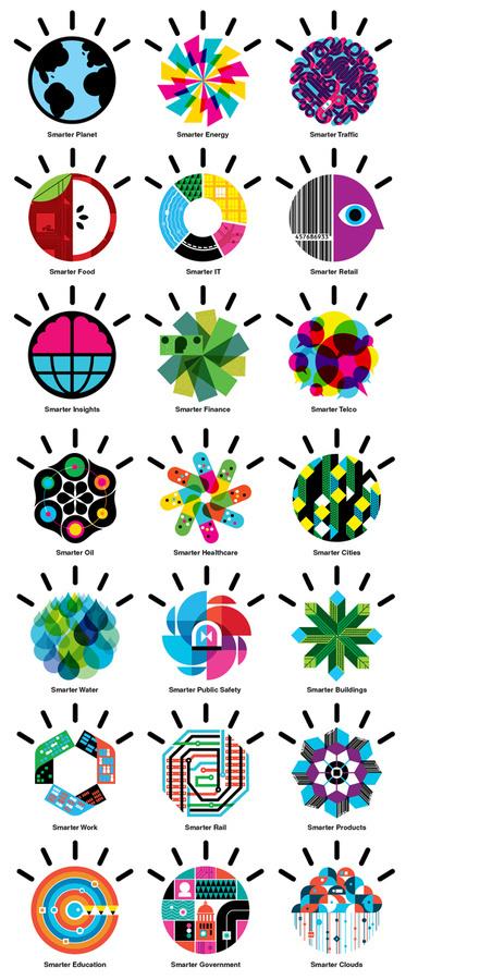 IBM smarter planet icons #advertising #icons #ibm