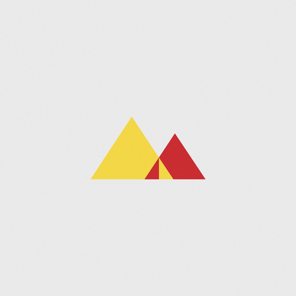 M #red #geometry #abstraction #yellow #illustration #triangles #type #typography