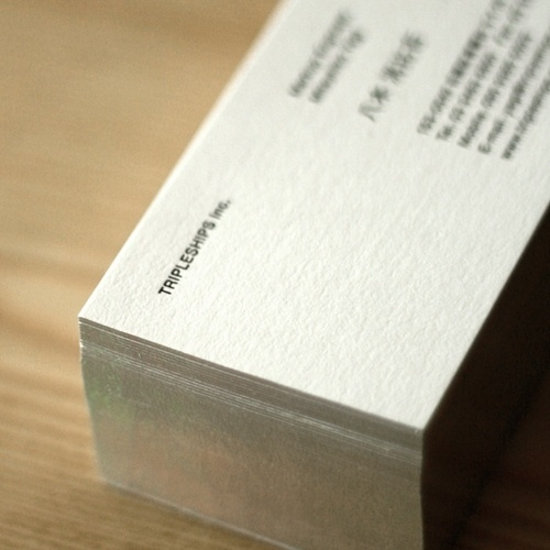 トリプルシップス/TRIPLESHIPS Inc. » 新しい名刺 #card #design #graphic #business