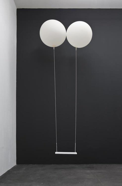 Enjoying This #visual #white #black #balloon #art #metaphora