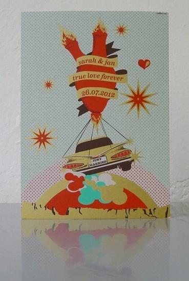 Desert love #collibri #silkscreen #fellerer #illustration #printing #art #marge