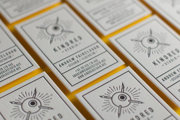 Letterpress Kindred Cards #letterpress #cards #business