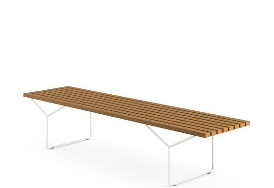 Bertoia outdoor bench
