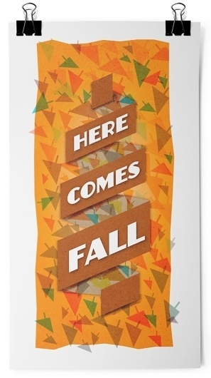 Here Comes Fall #fall #orange #leaves #typography