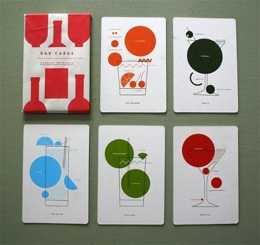 13. Bar Cards : neilhubertdotcom #neil #print #alcohol #classic #hubert #screen #bar #drinks #cards #cocktails